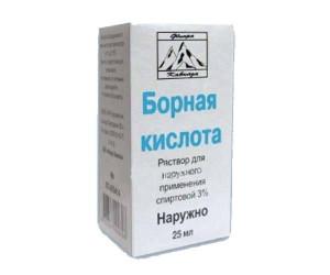 Борная кислота раствор 3% 25мл Флора Кавказа