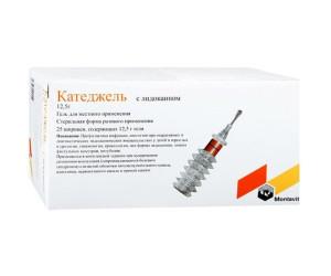 Катеджель с лидокаином гель 12,5г шприц N5