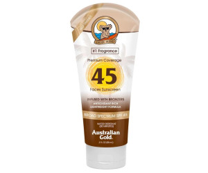 Australian Gold SPF Солнцезащитный Лосьон для лица Premium Coverage SPF45 Sheer Faces with bronzer 88 мл