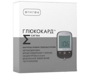 Глюкометр Глюкокард Сигма с тест-полосками