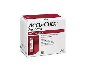 Акку-чек перформа тест-полоски для глюкометра N100