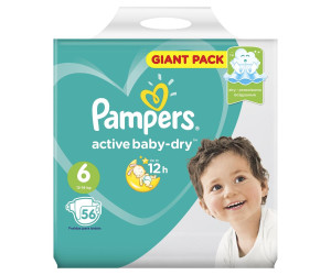 Pampers подгузники Active Baby-Dry 6 13-18 кг N56