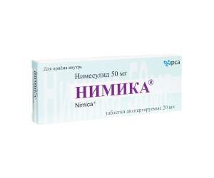 Нимика таблетки диспергируемые 50мг N20