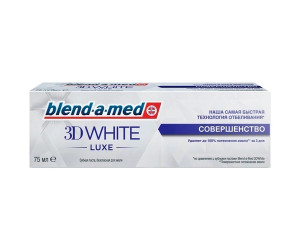 Blend-a-med зубная паста 3D WHITE LUXE совершенство 75мл