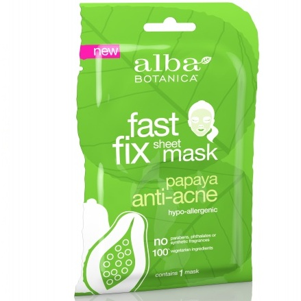 Alba Botanica Очищающая маска папайя Fast Fix Papaya Anti-Acne Sheet Mask 15г
