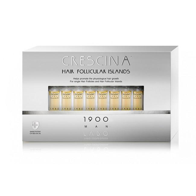 Лабо Кресцина 1900 для мужчин лосьон против выпадения волос Усиленная формула флаконы по 3,5мл №20+20