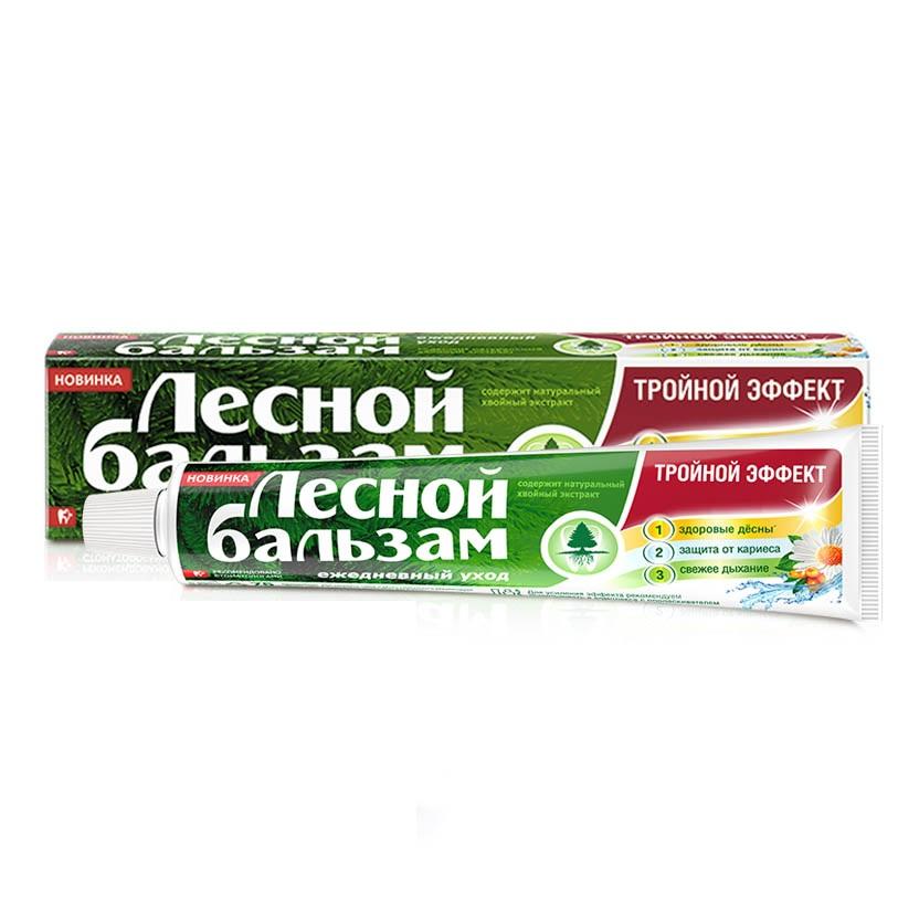 Купить Лесной Бальзам Зубная паста Тройной эффект мята и смородина на отваре трав 75мл