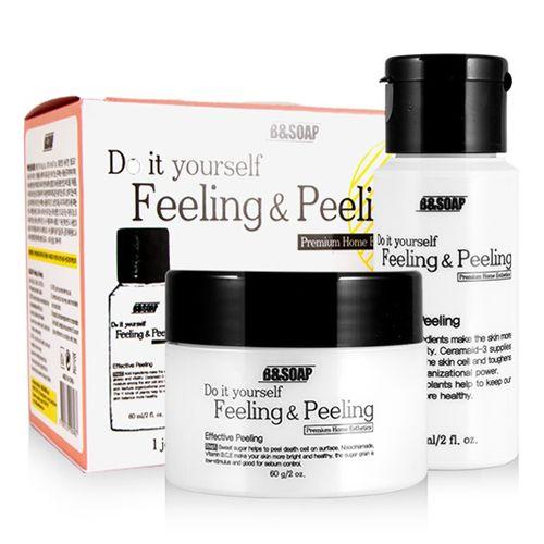 Купить со скидкой B&SOAP Feeling & Peeling Набор для домашнего пилинга скраб 60мл + лосьон активатор 60гр