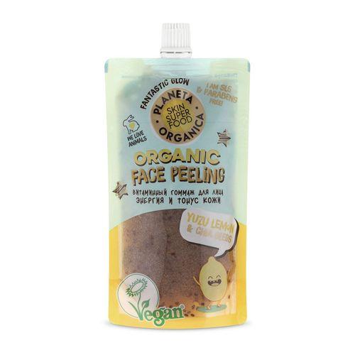 Купить Планета органика Skin super food Гоммаж для лица Yuzu lemon & basil seed витаминный 100мл, Planeta Organica