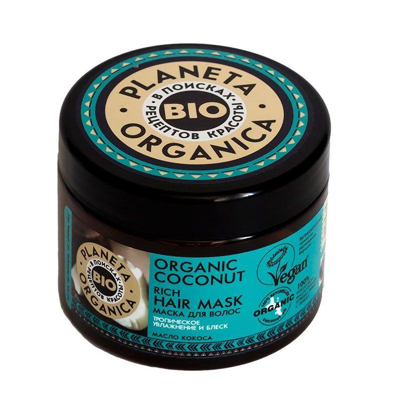 Купить Планета органика Organic coconut маска для волос густая кокосовая 300 мл, Planeta Organica