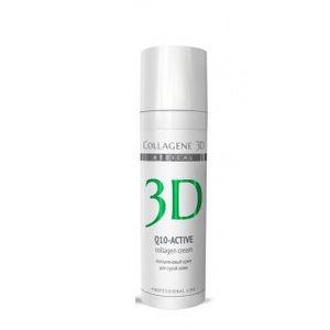 Коллаген 3Д Q10-ACTIVE Крем для лица с коэнзимом Q10 и витамином Е, антивозрастной уход для сухой кожи 30 мл