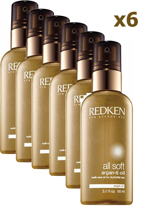 Redken (Редкен) Олл Софт Масло Арган-6 Ойл для комплексного ухода для всех типов волос 90 мл Х 6 шт