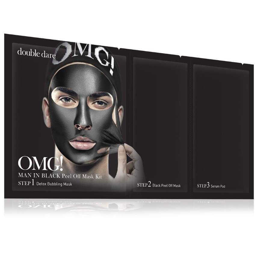 Double dare omg! man in black трехкомпонентный комплекс мужских масок смягчение и восстановление