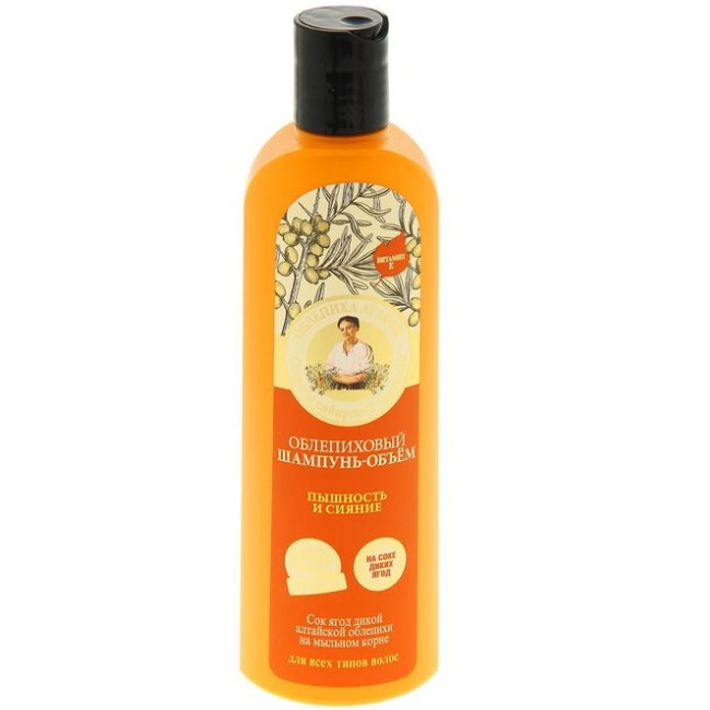Купить Рецепты Бабушки Агафьи Шампунь для волос объем Облепиховый пышность и сияние 280мл, Рецепты бабушки Агафьи