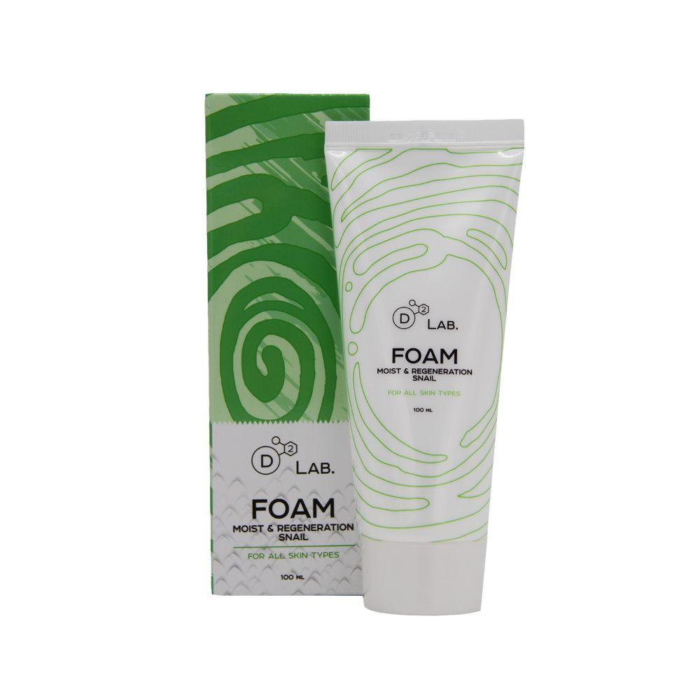 Купить D2 Lab Пенка для умывания Муцин Улитки Foam Moist & Regeneration Snail 100мл