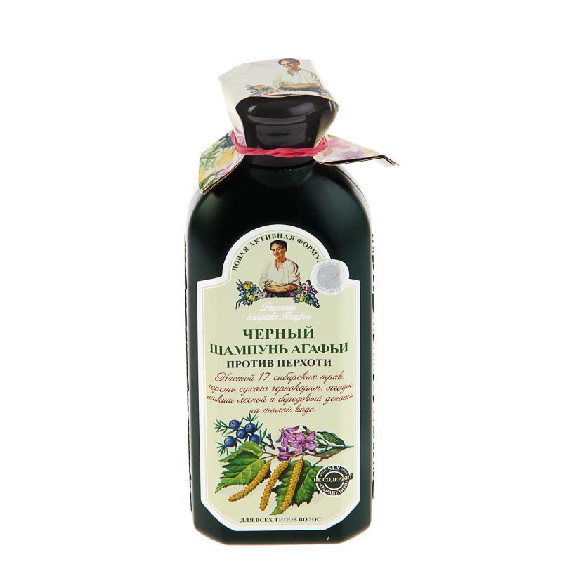 Рецепты бабушки Агафьи Шампунь Агафьи Черный для всех типов волос 350мл