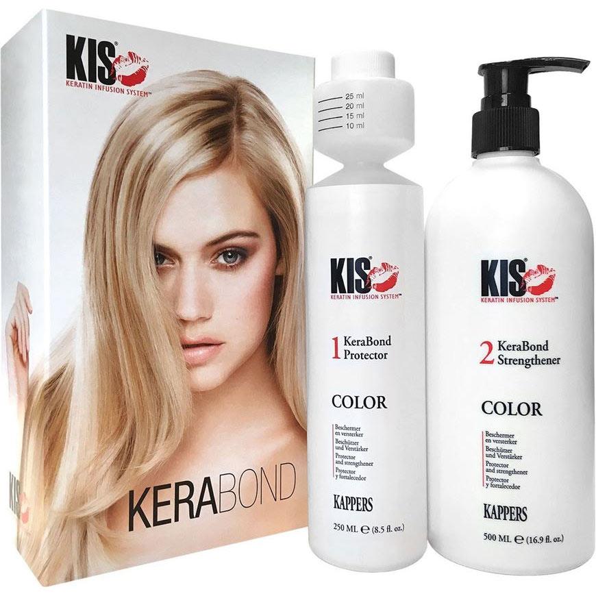 Купить KIS KeraBond Набор для восстановления волос: Средство для защиты волос во время окрашивания 250мл+Маска д/укрепления волос 500мл