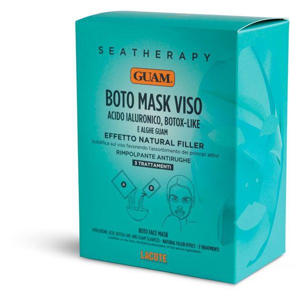 Купить Guam Маска для лица Ботокс эффект с гиалуроновой кислотой и водорослями 3 шт.