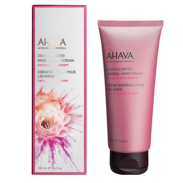 Ахава (Ahava) Deadsea Water Минеральный крем для рук кактус и розовый перец 100мл
