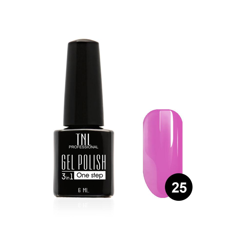 Tnl гель-лак 3 в 1 №25 - китайский розовый 6 мл