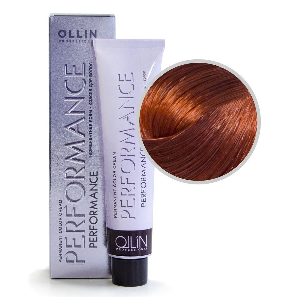 Ollin Performance 8/4 светло-русый медный Перманентная крем-краска для волос 60мл