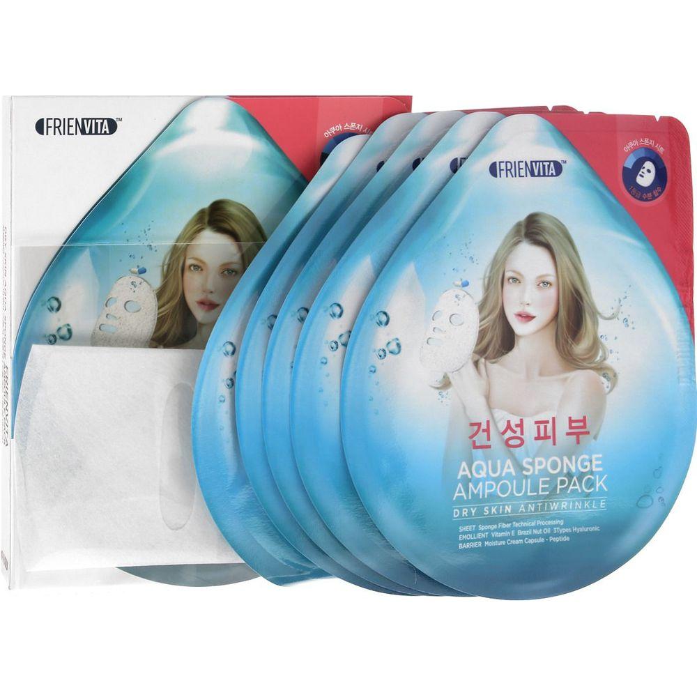 Купить Frienvita Ампульная маска-крем Aqua Sponge Dry для сухой кожи с гиалуроновой кислотой и пептидами для лица 28г N5