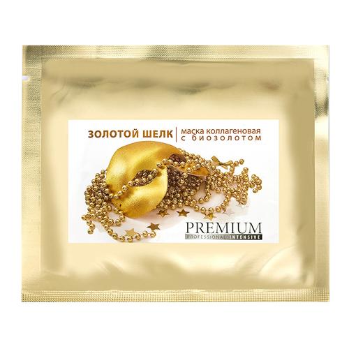 Премиум (Premium) Маска коллагеновая Золотой шелк с биозолотом, 1 шт