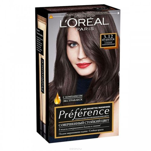 Loreal Preference краска для волос 3.12 Мулен Руж