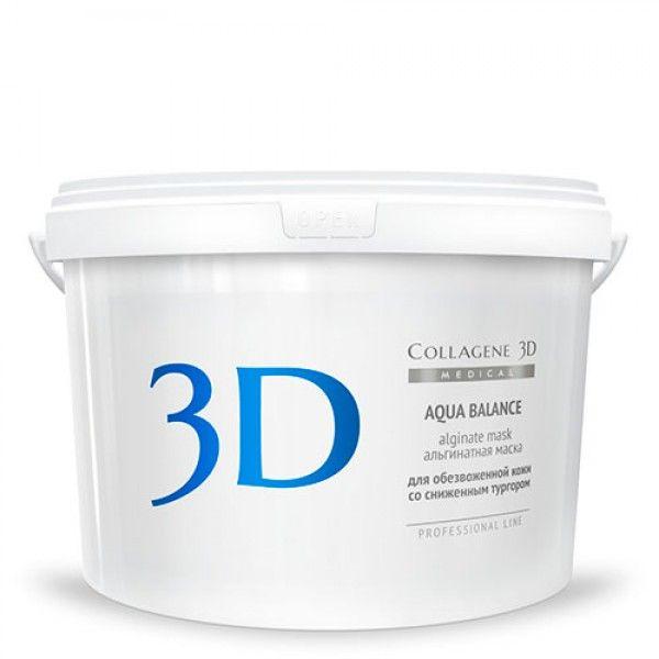 Купить Коллаген 3Д Альгинатная маска для лица и тела AQUA BALANCEс гиалуроновой кислотой 1200 г, Collagene 3D