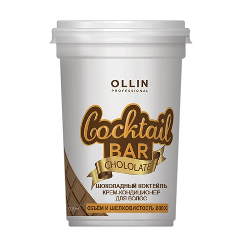 Оллин/Ollin Professional Cocktail BAR Крем-кондиционер для волос Шоколадный коктейль объём и шелковистость волос 500м от Лаборатория Здоровья и Красоты
