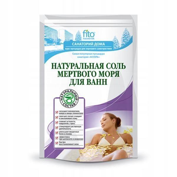 Купить Фитокосметик Санаторий дома соль для ванн Натуральная мертвого моря 500г