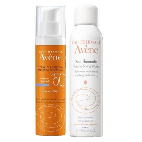 Купить Avene Набор солнцезащитный флюид SPF50+ без отдушек 50мл + Термальная вода 150мл