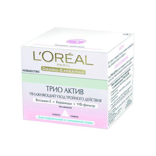 Лореаль Трио Актив Увлажнение Эксперт крем для нормальной и смешанной кожи 50мл от Лаборатория Здоровья и Красоты