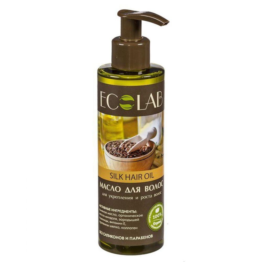 Купить ECOLAB Масло для волос для укрепления и роста волос Шелковое 200 мл