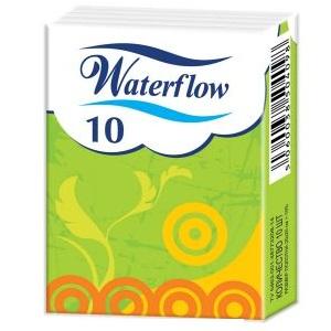 Платки носовые Waterflow N10 без запаха двухслойные от Лаборатория Здоровья и Красоты