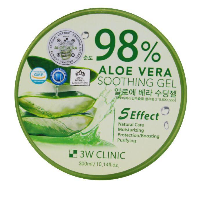 Купить 3W Clinic Гель универсальный АЛОЭ Aloe Vera Soothing Gel 98% 300мл