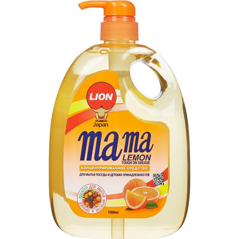 Купить Lion Mama Lemon Tough on Grease Апельсин Гель для мытья посуды 1000мл