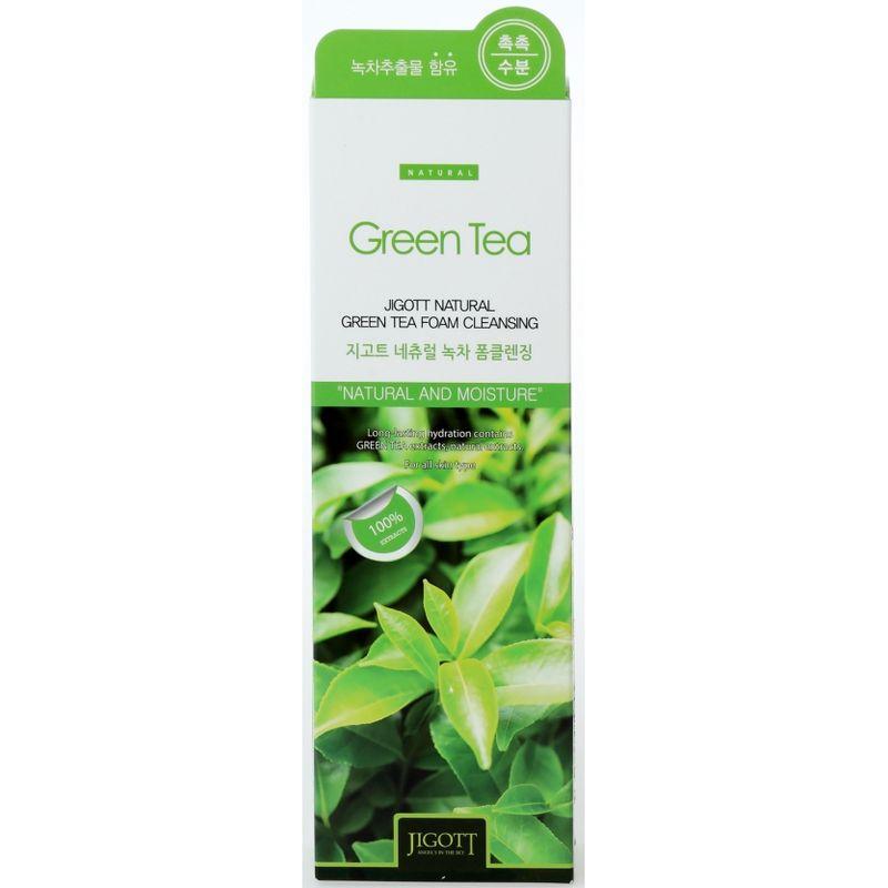 Jigott очищающая пенка с экстрактом зеленого