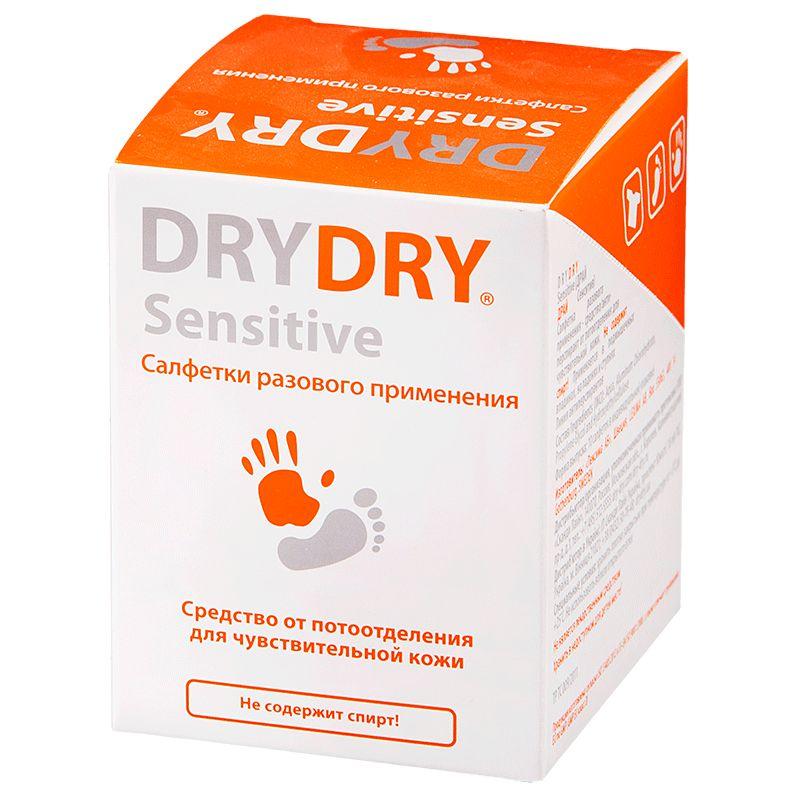 DRY-DRY Sensitive Салфетки от потовыделения для чувствительной кожи N10.