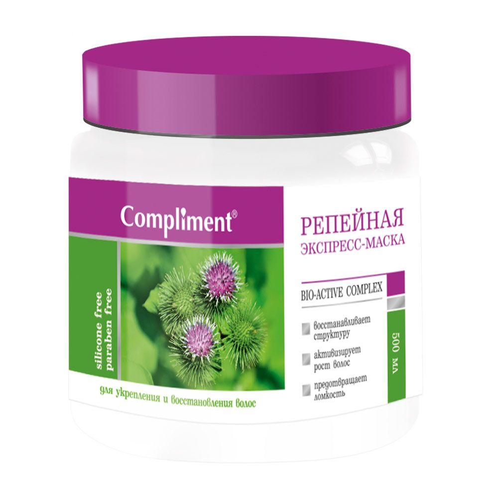 Купить Compliment Репейная Экспресс-маска для укрепления и восстановления волос 500мл