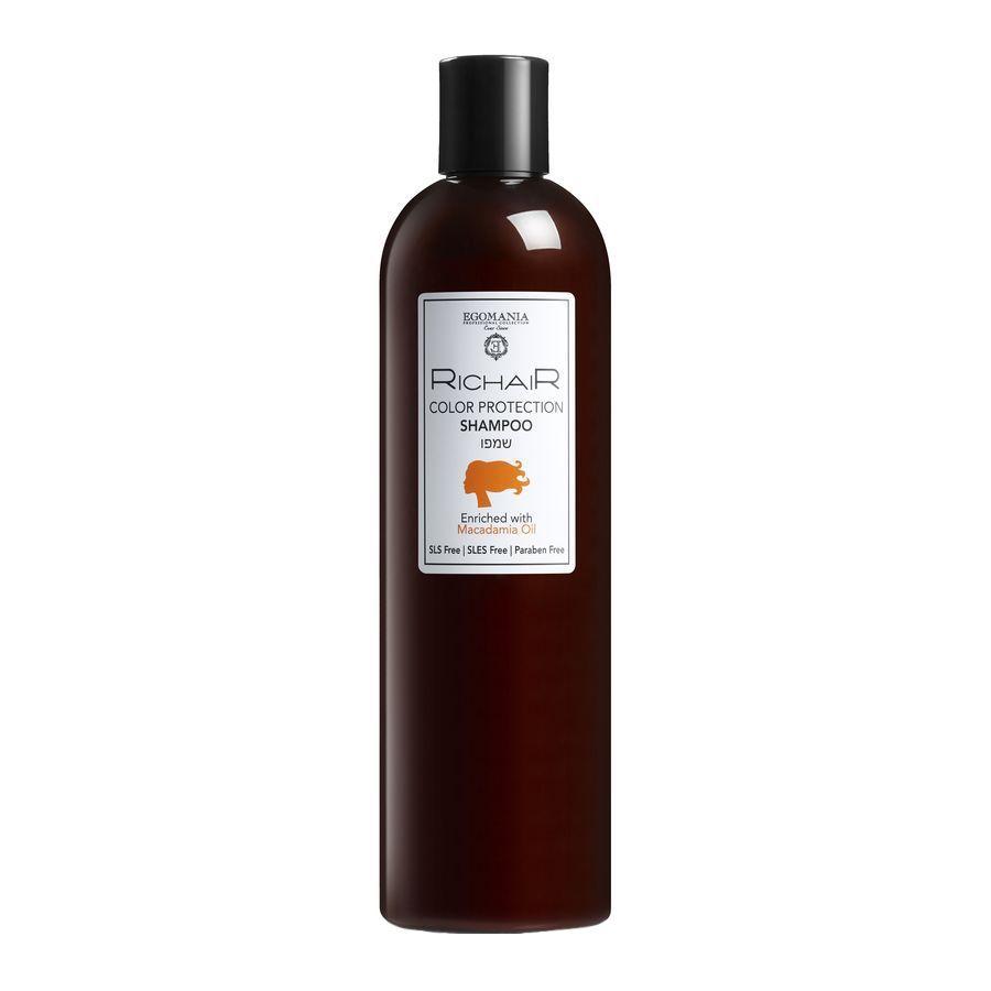 Купить Egomania Шампунь защита цвета с маслом макадами RICHAIR 400мл