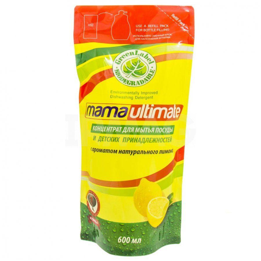 Купить Mama Ultimate Лимон Концентрат для мытья посуды 600мл запасной блок