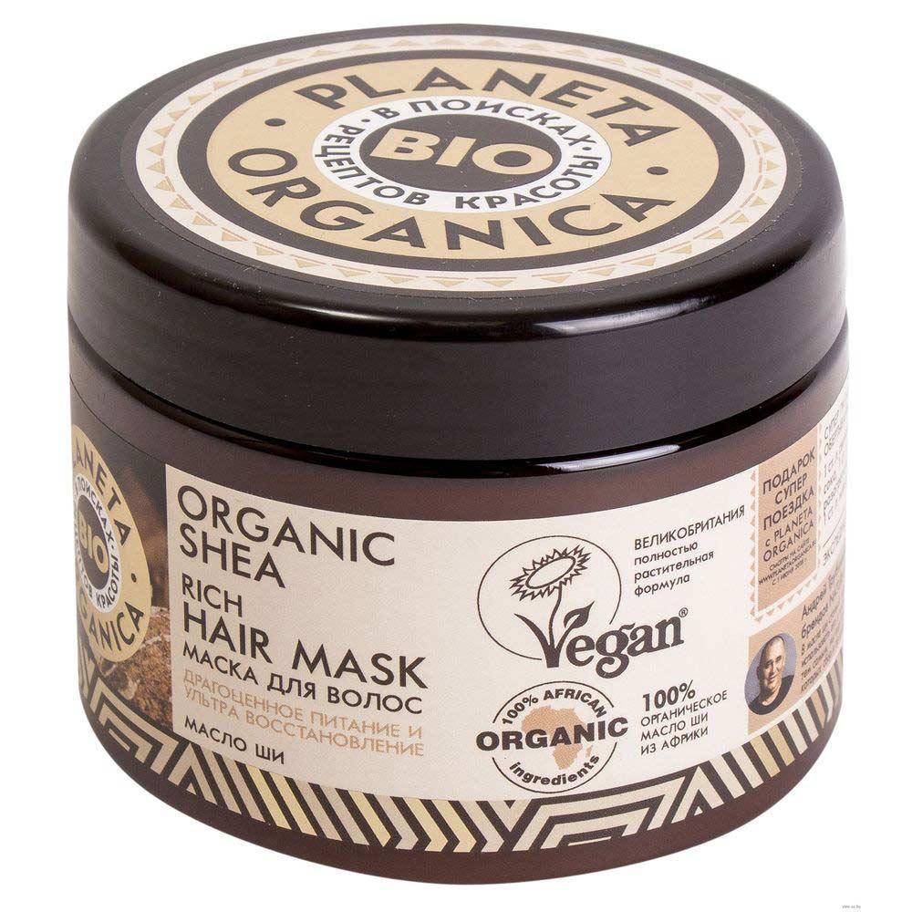 Купить Планета органика Organic Shea маска для волос густая масло ши 300 мл, Planeta Organica