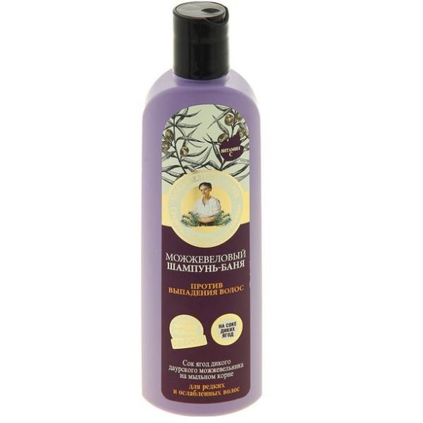 Купить Рецепты Бабушки Агафьи Шампунь-баня для волос Можжевеловый против выпадения 280мл, Рецепты бабушки Агафьи