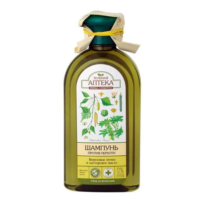 Купить Зеленая аптека шампунь Березовые почки/Касторовое масло против перхоти 350 мл