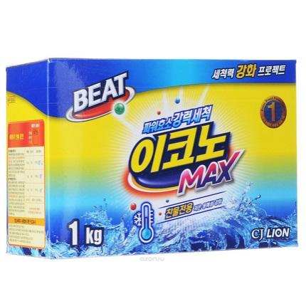LION Лион порошок стиральный Beat Econo Max для стирки в холодной воде 1 кг кор