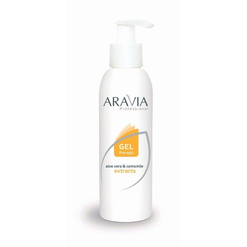 Aravia Гель для обработки кожи перед депиляцией с экстрактами алоэ вера и ромашки 320мл