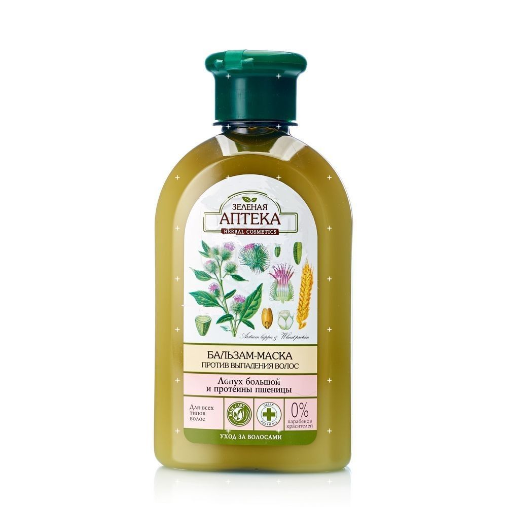 Купить Зеленая аптека бальзам-маска Лопух/протеины пшеницы против выпадения волос 300мл