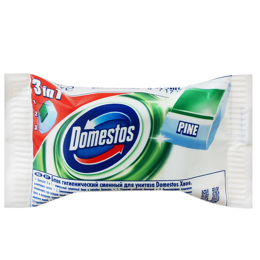 Купить Domestos Сменный Гигиенический блок для унитаза Хвоя 40г