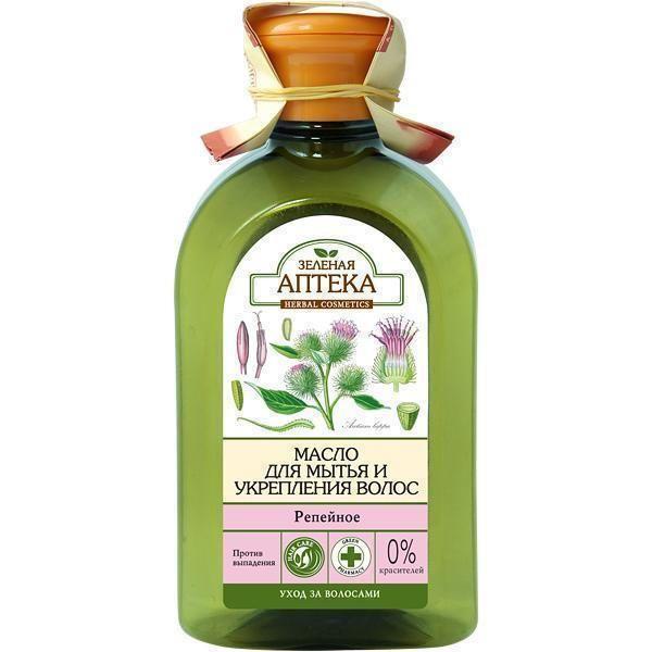 Купить Зеленая аптека масло Репейное для мытья для укрепления волос 250 мл